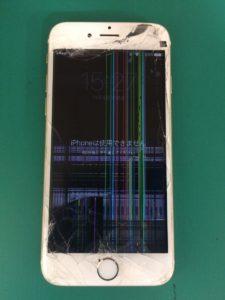 道路で落としてしまって・・・札幌市東区よりiPhone6フロントパネル交換修理