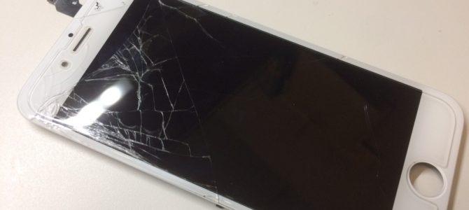 iPhone6フロントパネル交換修理 札幌市東区より『歩いている時に・・・』