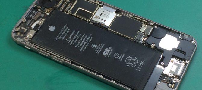 iPhone6バッテリー修理  札幌市清田区より『バッテリーが膨らんできて・・・』