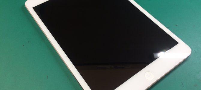 iPadmini2フロントガラス交換修理 札幌市中央区より『家で落としてしまって・・・』