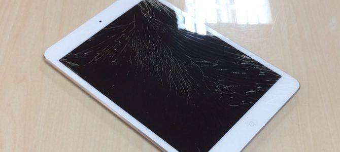 iPadminiフロントガラス交換修理 札幌市中央区より『使っていて落としてしまって・・・』