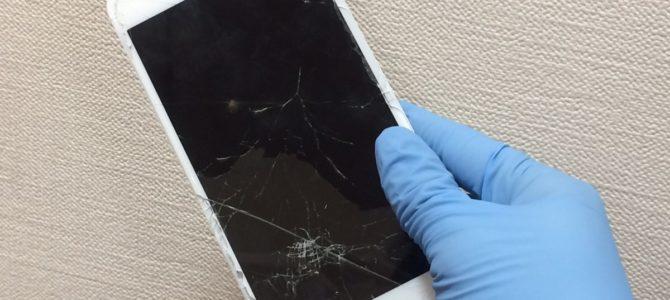 iPhone7Plusフロントパネル交換 札幌市中央区より『道路で落としたら・・・』