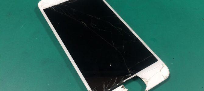 iPhone6フロントパネル交換 札幌市中央区より『高い所から落として・・・』