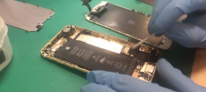 iPhone6水没復旧 札幌市中央区より『料理中に・・・』