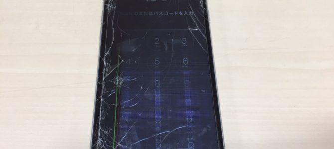 iPhone6 フロントパネル交換修理 札幌市中央区より 『自転車に乗っていて・・・』