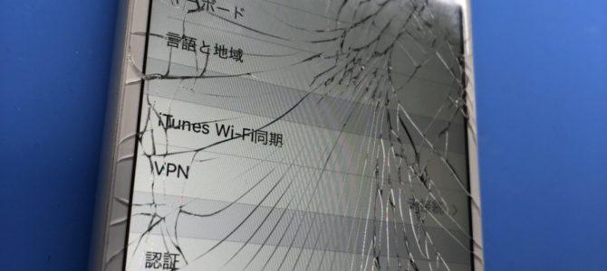 コンクリート直撃 iP6ガラス割れ修理 iPhone/iPad修理専門店アイフォンクリア 旭川店ブログ2018/06/02