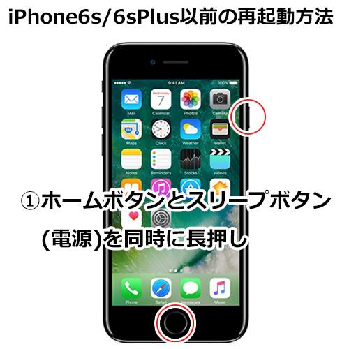 iPhone 6s/6s Plussの再起動のやり方